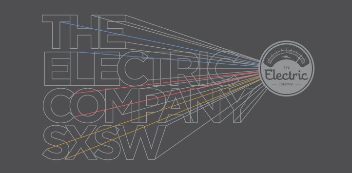 Illustration Design of retro type for The Electric Company SXSW tshirt design   | DesignCode | Austin, Texas