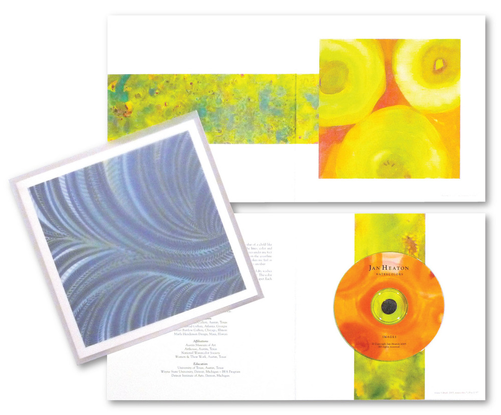 Jan Heaton Watercolor Studio self-promotional Brochure Design | DesignCode | Austin, Texas