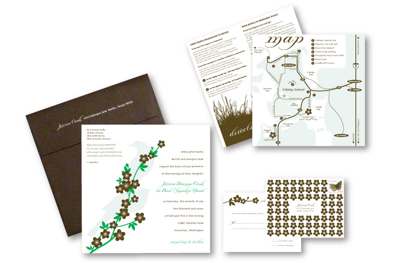 Custom Wedding Invitation Design | DesignCode | Austin, Texas