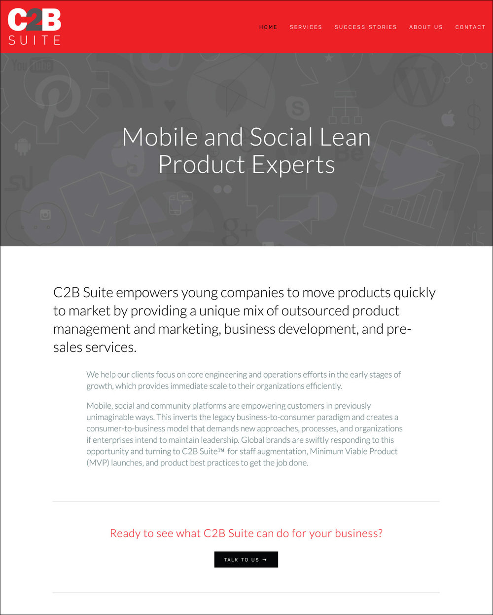 C2B Suite Website Design | DesignCode | Austin, Texas