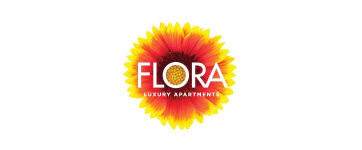 Flora Luxury Apartments Logo Design  | DesignCode | Austin, Texas
