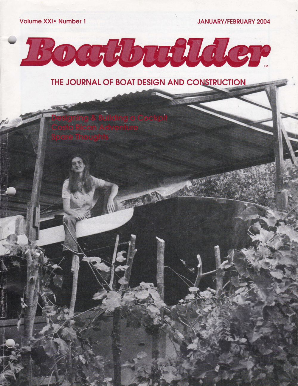 Helen Harrison and  La Dulce Mujer Pintada  on the cover of  Boatbuilder Magazine . Issue includes a 9-page feature on Ben and Helen's involvement in the creation of the Cabo Rico 38.