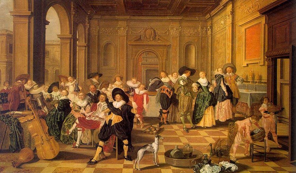 Dirck Hals,  Banquet Scene in a Renaissance Hall