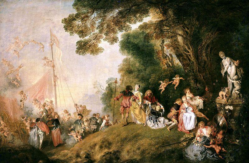 Antoine Watteau, Limbarco per Citera
