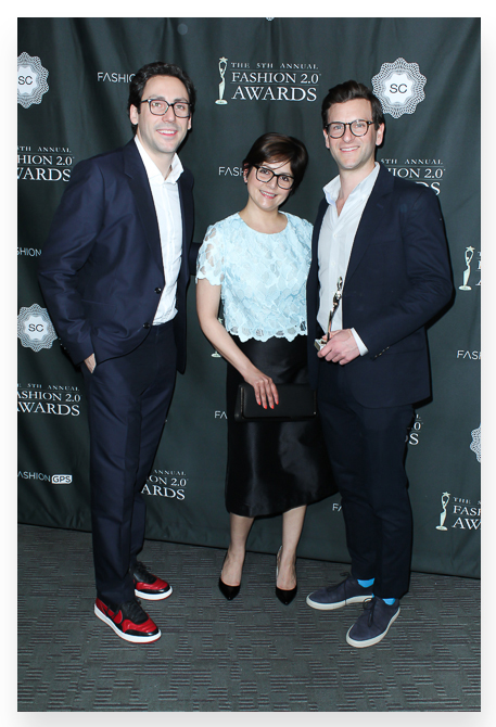 The founders of Warby Parker Neil Blumenthal and David Gilboa were honored with the 2014 Visionary Award.
