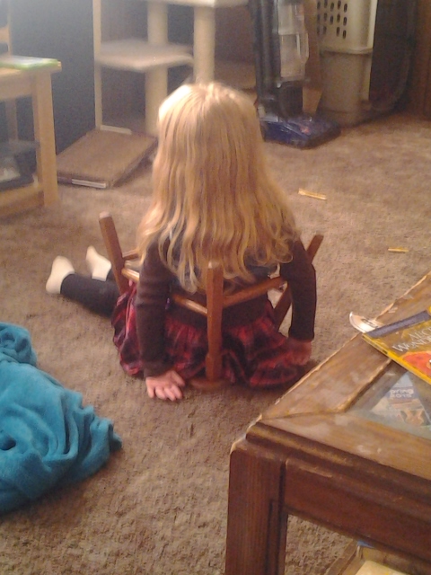 Looks like Harleigh is stuck in time out.