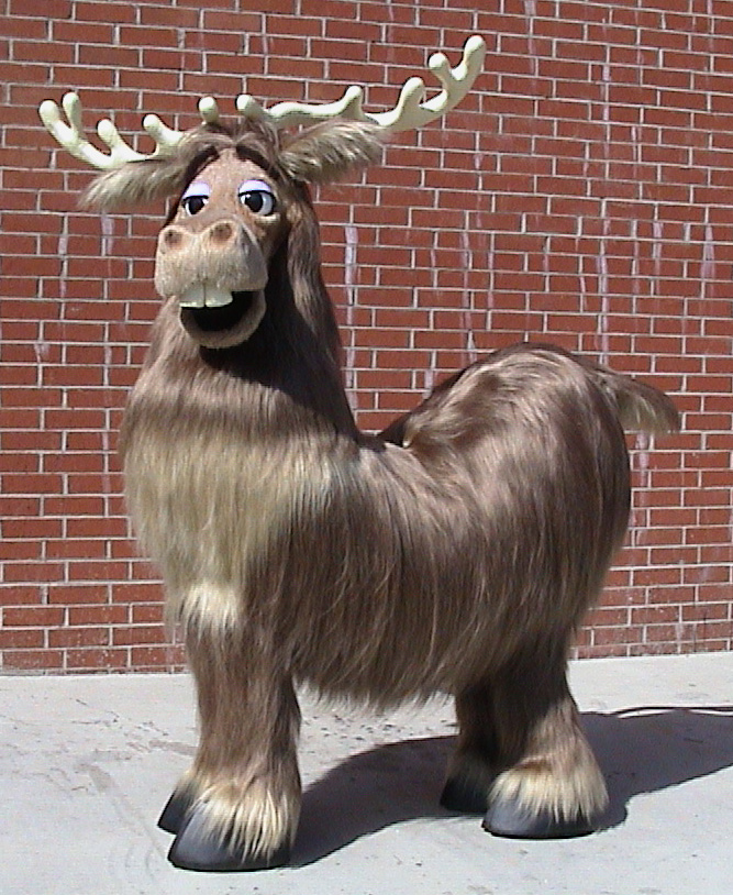 Ernie the Elk - two person character for Alabama Theater. By Total Fabrications
