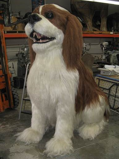 Dog fabricated by Techworks FX Studios