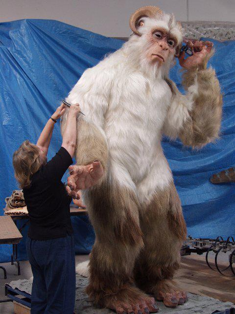 Abominable Snowman Fabricated by John Cox's Creature Shop