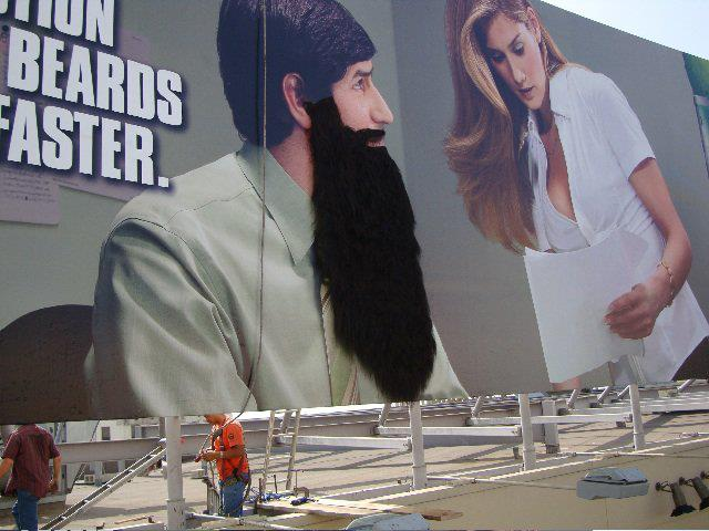 Beard for Mountain Dew Billboard ad in Los Angeles, CA – Fabricated by NFT