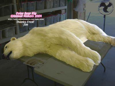 "Polar Bear Rig for ""LOST"" Series. Fabricated by Animal Makers"