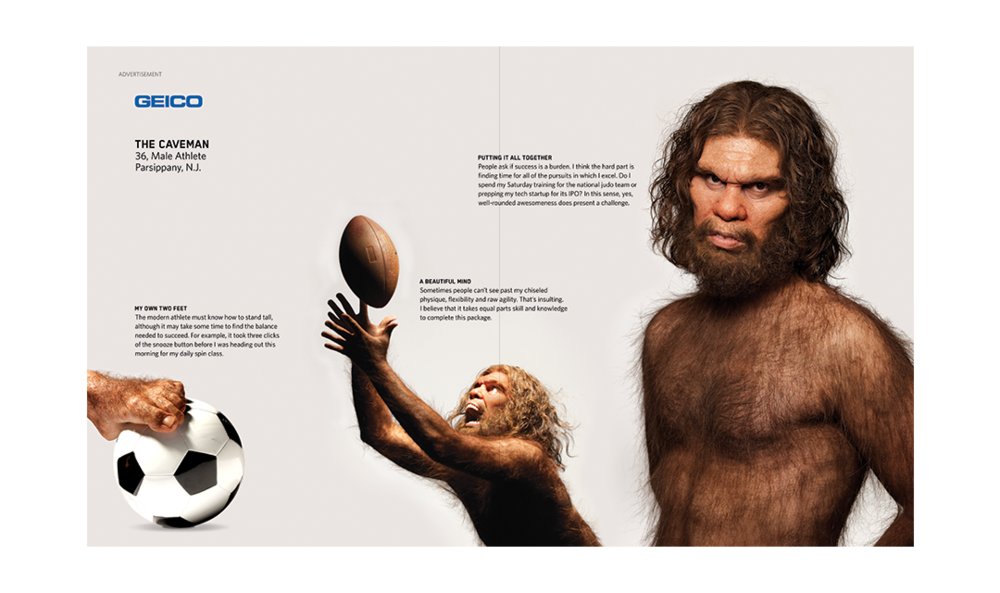 Geico Cavemen in Sports Illustrated- Alterian Inc.