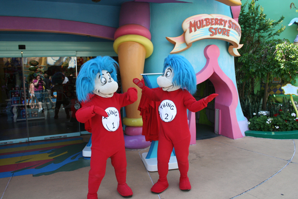 Thing 1 and Thing 2 for Universal Studios