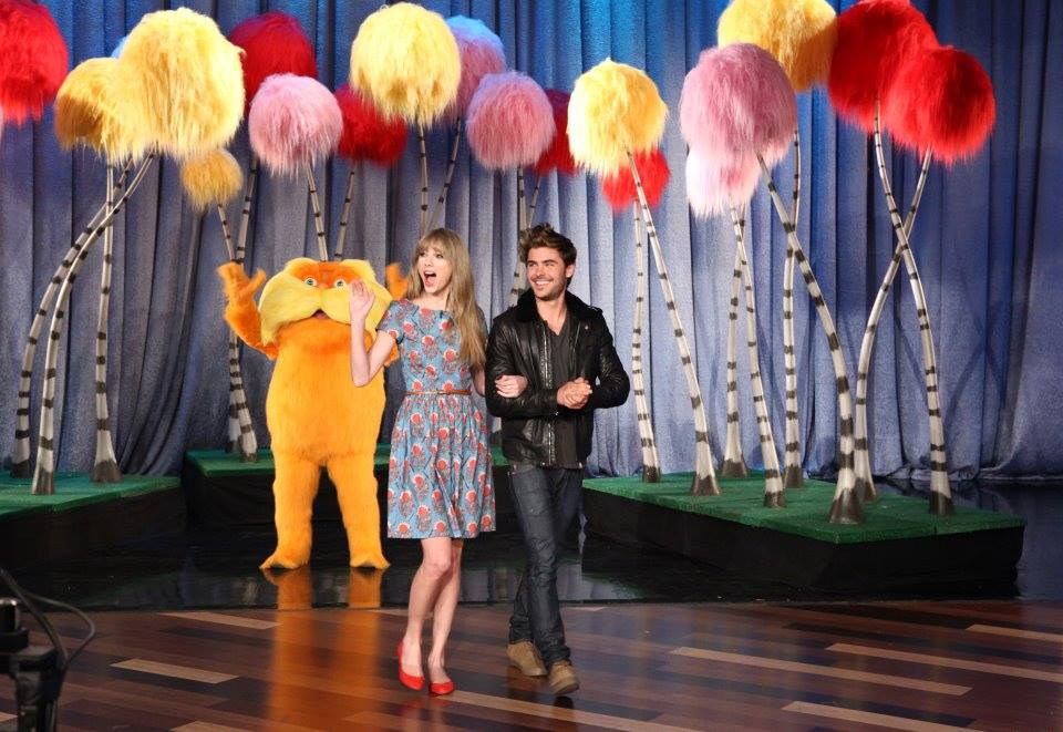 Truffula Trees for Taylor Swift and Zac Efron's appreance of The Ellen Degeneres Show for The Lorax - by Drissi Creative