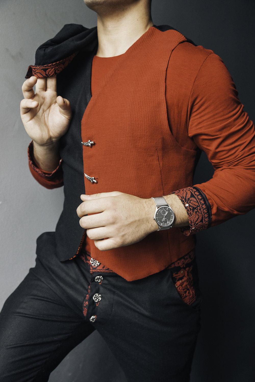 Ameer Khoury wearing Rakan Nimr