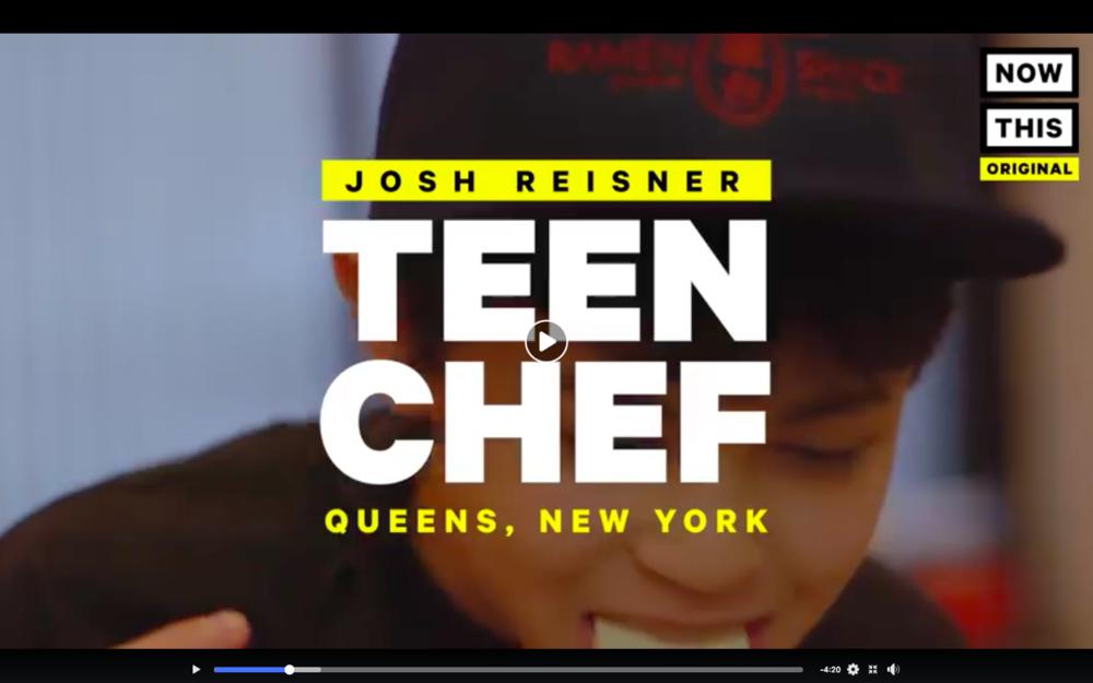 NowThis: Josh Reisner The Teen Chef