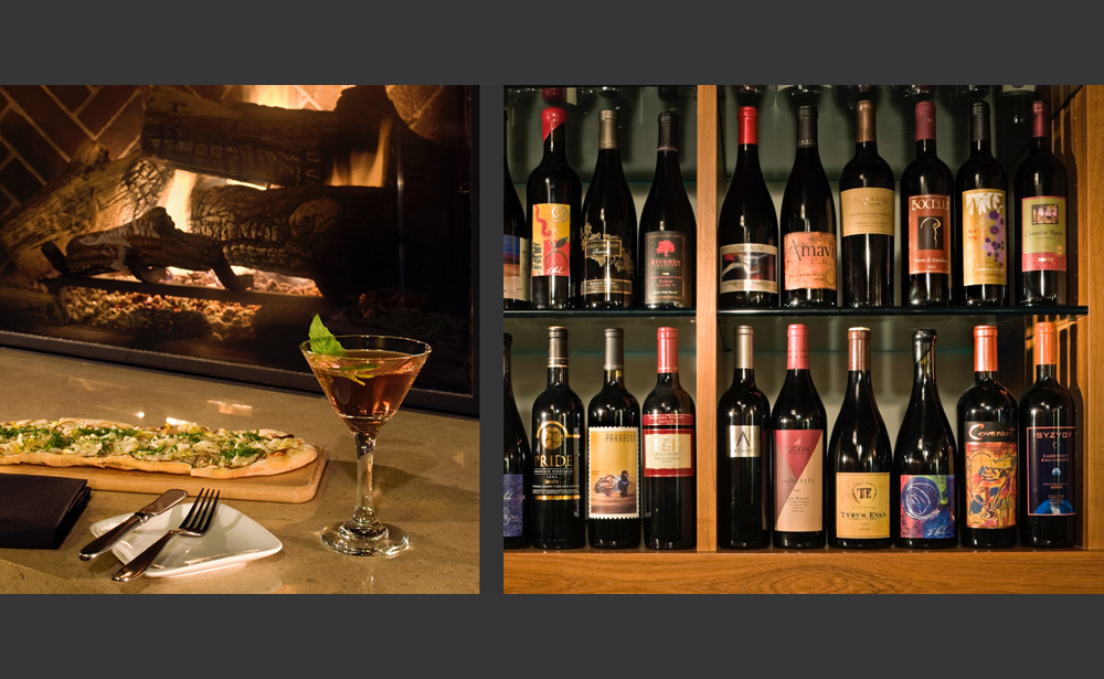 Fireside Martini and Wine Cellar at Trellis Restaurant