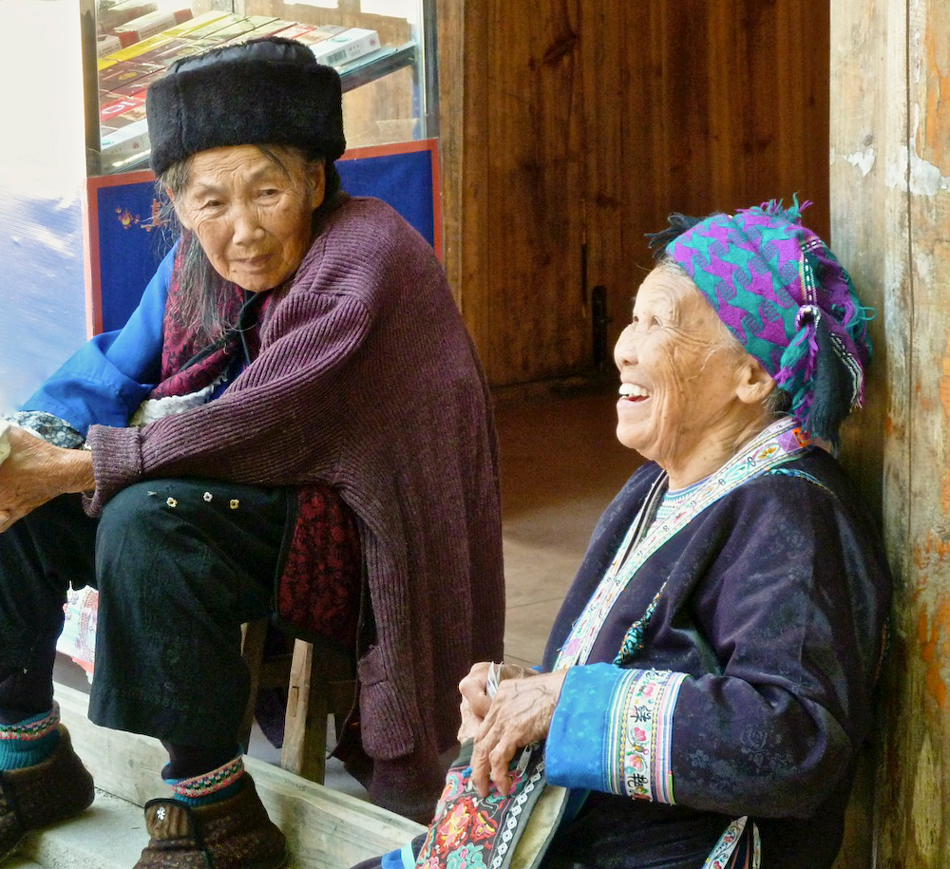 Miao Minority Elders, Rongshui Village, Guangxi, China