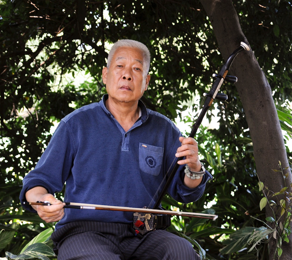 Man with Erhu, Queshan Park, Liuzhou, Guangxi, China