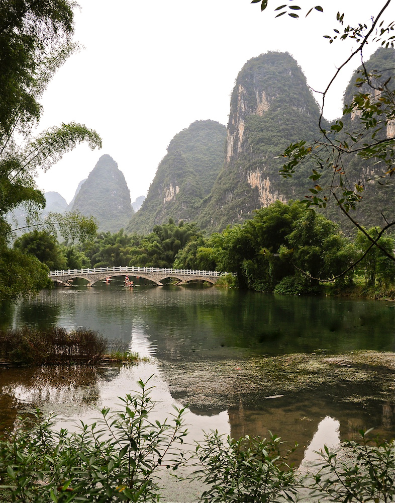 Karst Terrain along the Yulong River, Yangshuo, Guangxi, China