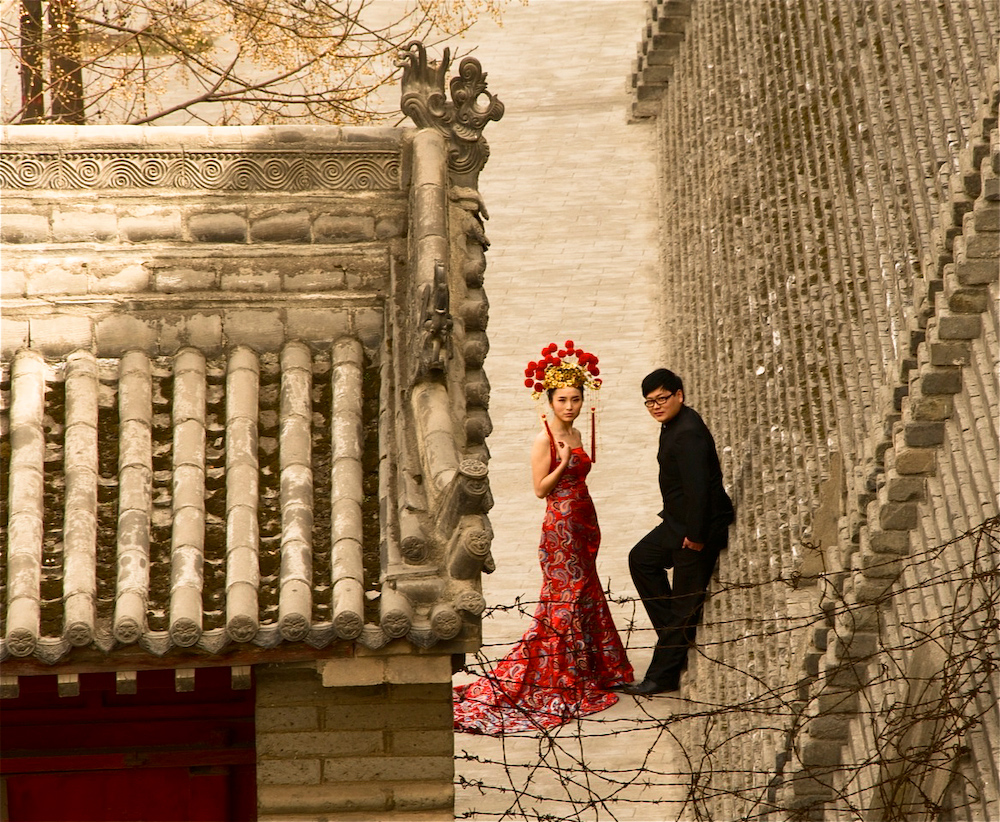 Traditional Wedding Couple, Xi'an, Shaanxi, China