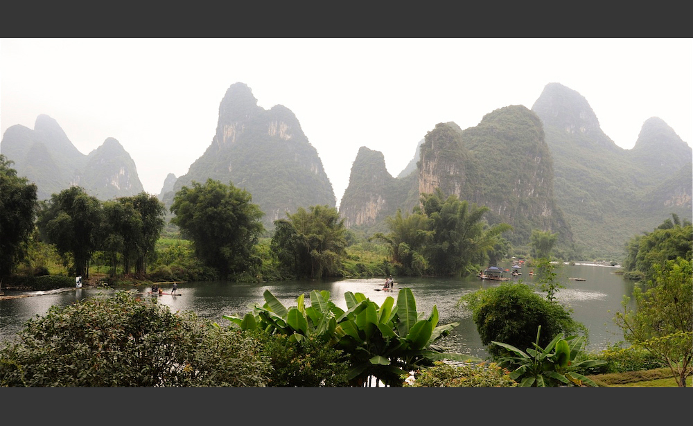 Karst Terrain on the Yulong River, Yangshuo, Guangxi, China