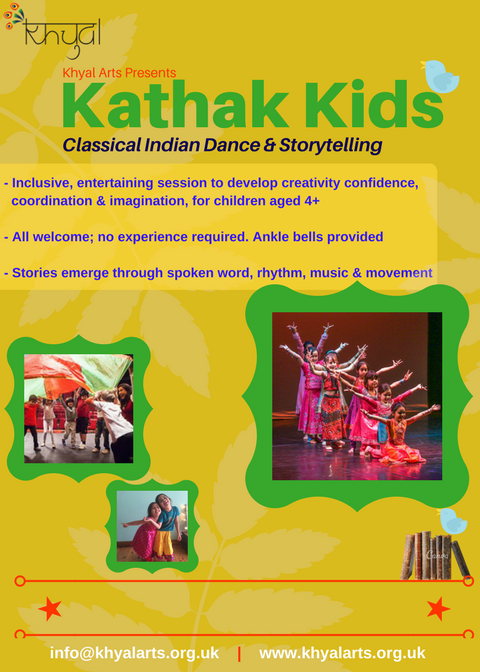 Children learn Indian classical dance in a dynamic, engaging way;