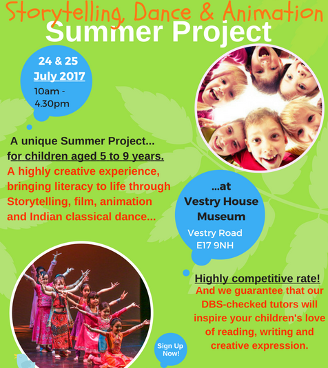 Be sure to offer your children a wonderfully unique, artistic and creative experience this summer, subsidised by Waltham Forest Council.  An exciting two days with our wonderful, highly experienced, professional and DBS- checked tutors, Archita and Bhavesh. Sessions are just £9 per morning or afternoon session or                       £28 for the two full days. (Sibling discount available also...) Please note that the museum will be closed to the public for this project, ensuring that this will be a safe environment with DBS-checked adults, only, on site for these two days. Children will be supervised by DBS-checked staff when they eat their packed lunch in the garden (weather permitting). Book now to avoid disappointment.