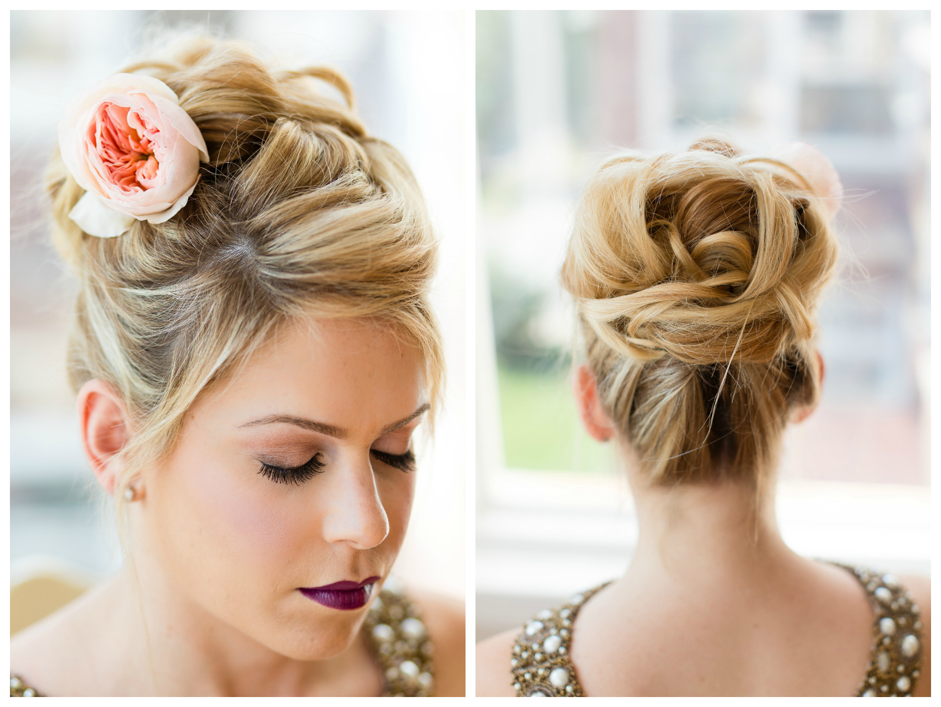 blonde anthro updo