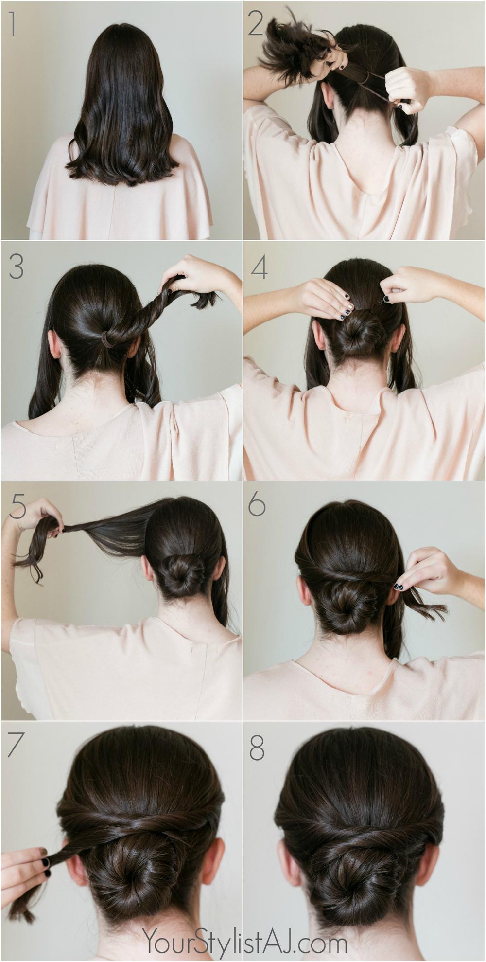Easy Fancy Bun Tutorial  YSAJ - Hairstyles For Bridesmaids
