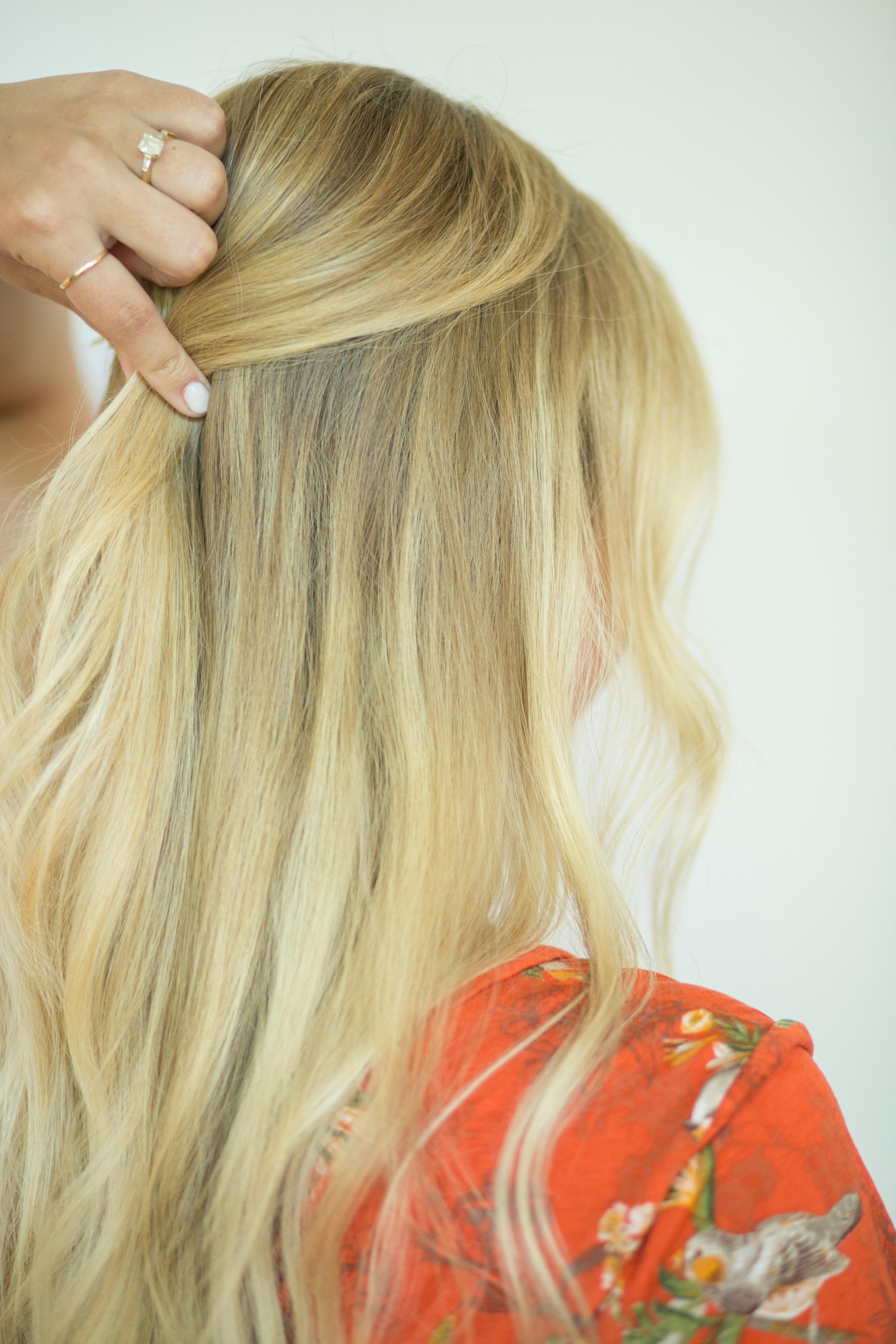 3 Section Half Up Hair Tutorial Ysaj