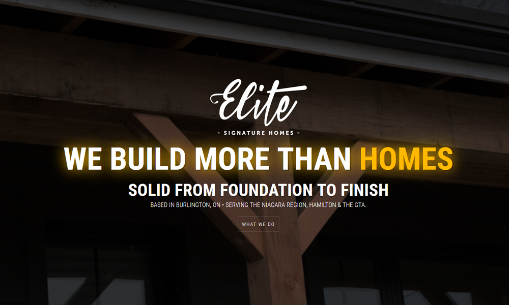 Elite Signature Homes | Website | Burlington, ON
