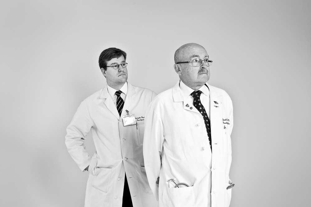 Dr. Mandigo and Dr. Quest for Columbia University Medical Center