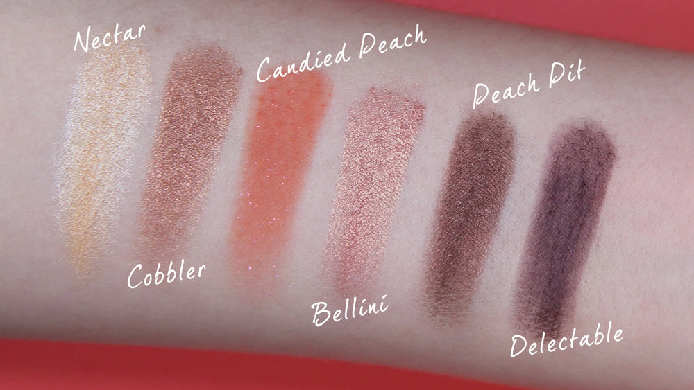 Too Faced Sweet Peach Eyeshadow Palette Swatches Row 2