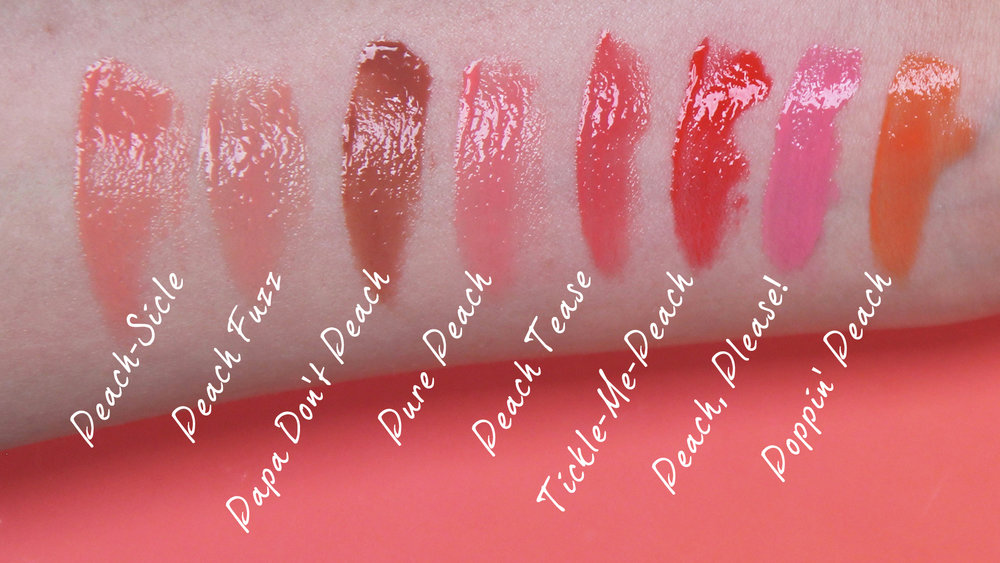 Sweet Peach Lipgloss Swatches