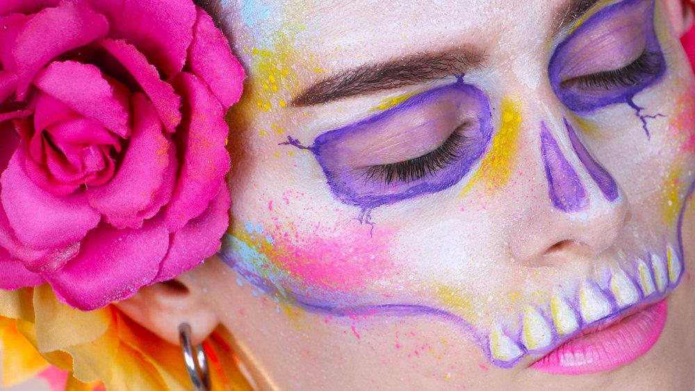 paint splatter skull emmapickles