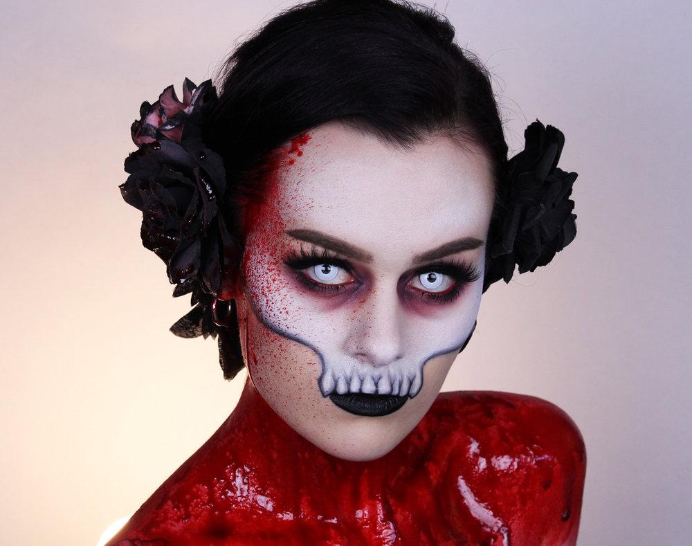 Vampire skull makeup tutorial emma pickles vampire skull emma pickles baditri Image collections