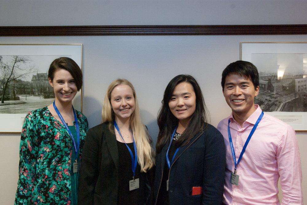 WSAWBA Board 2016. From left to right: Brooke, Gemma, Lesley, Edward