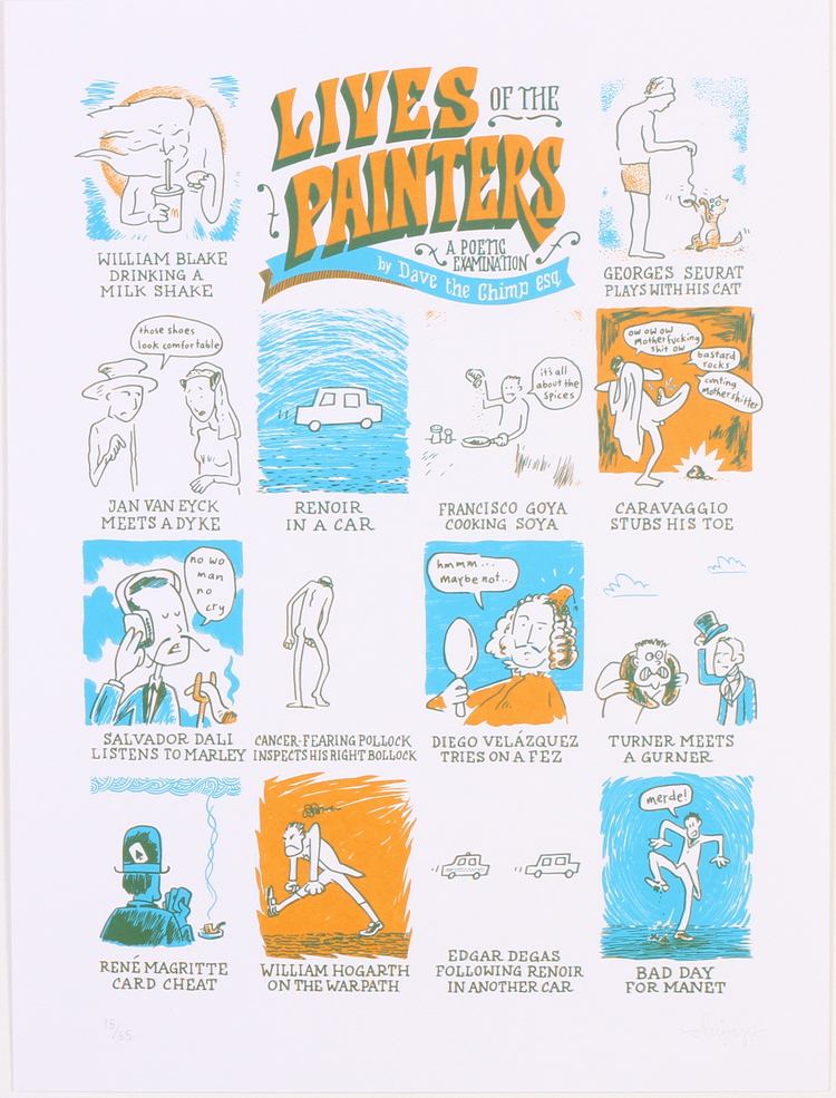 'The Lives Of Painters' By Dave The Chimp