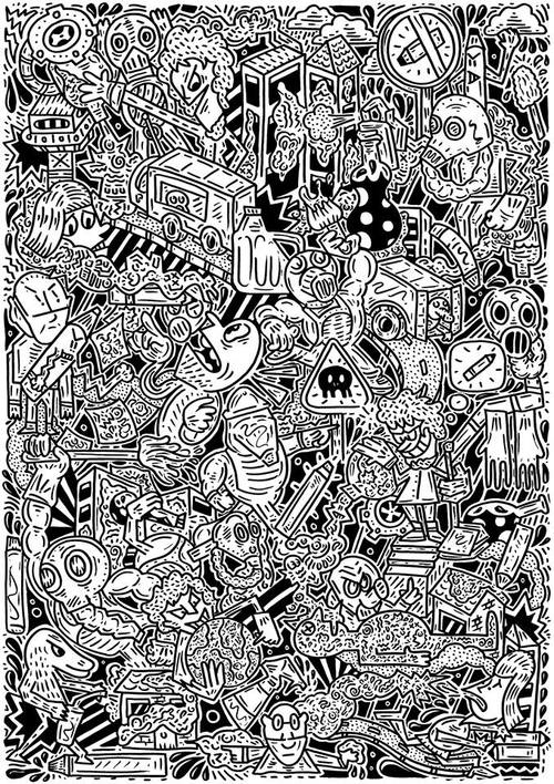 'Attack Of The Doodle Virus' By The doodle Man