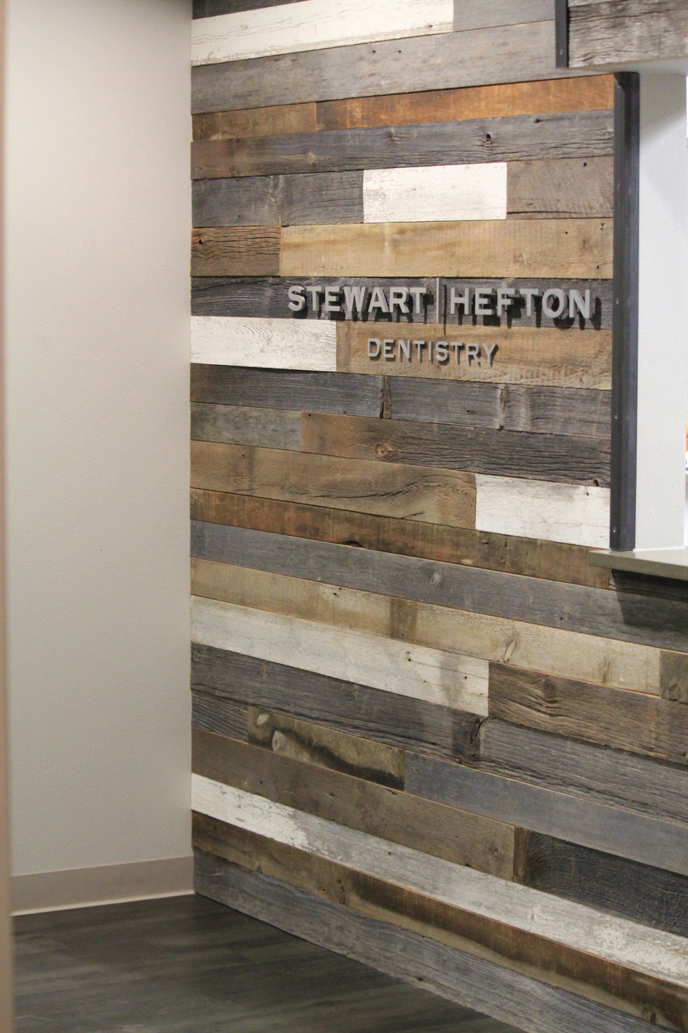 Mixed Patina Barn Wood Feature Wall