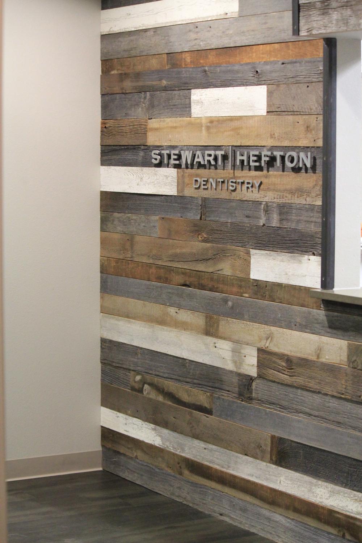 Mixed Patina Barn Wood Feature Wall