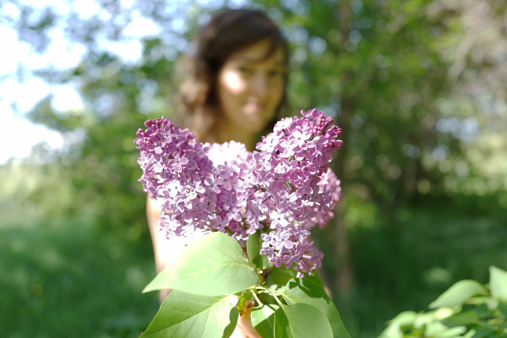 Laura and Lilacs