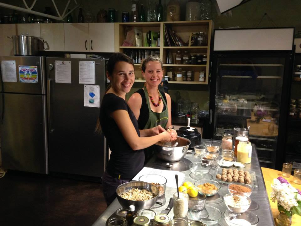 Light Cellar kitchen with assistant Robyn Lilley