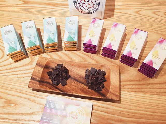 Chocolate tastings. Love sampling out our heirloom organic chocolate!! Here is the 'Kiss of Venus' & 'Tantric Tea' at a recent tasting at @homesteadapothecary     #dessertmedicine #chocolate #cacao #kissofvenus #tantrictea #greentea #rose #infused #darkchocolate #love #heartmedicine #beauty #design