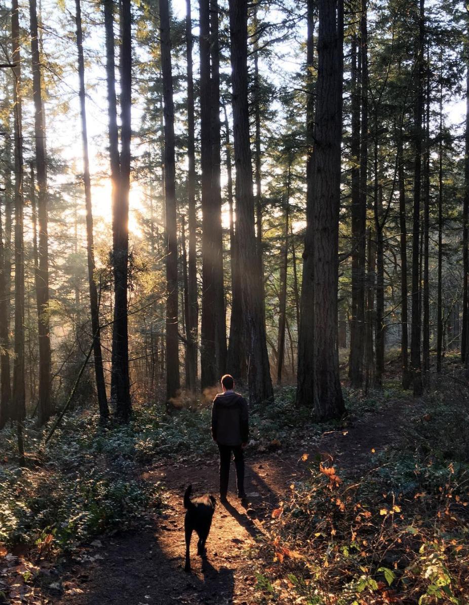 Laura: Hiking with Kona