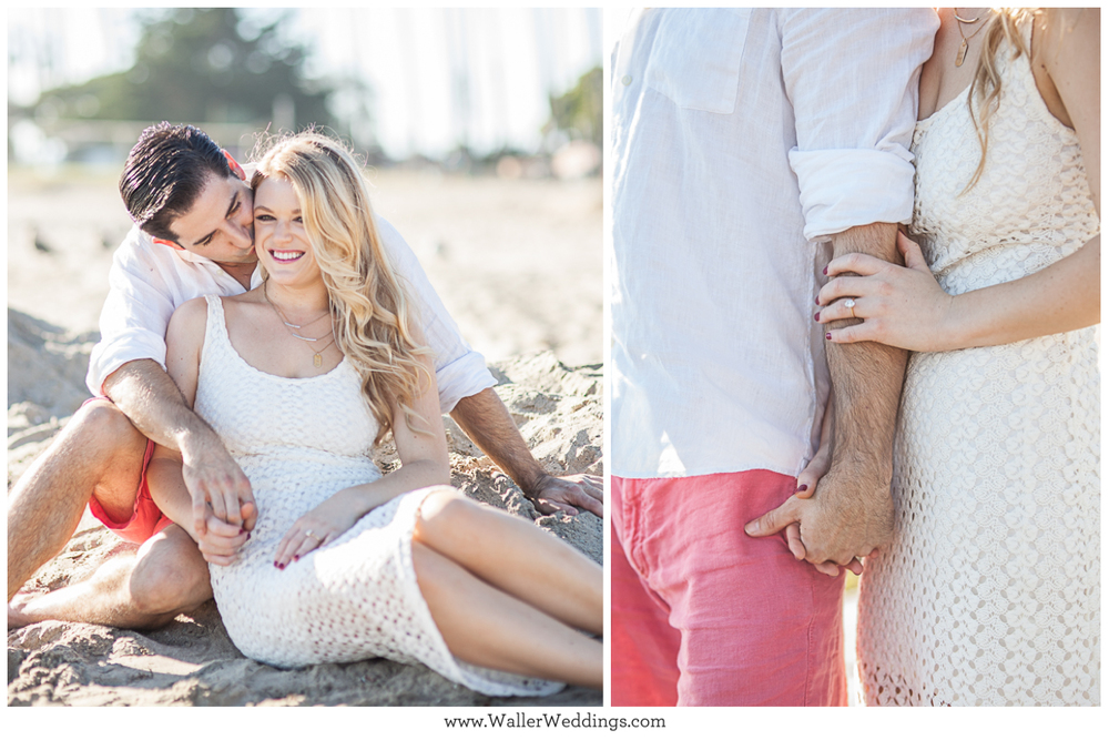 santa barbara, wedding photography, engagement session, goleta beach, waller weddings, dustin waller
