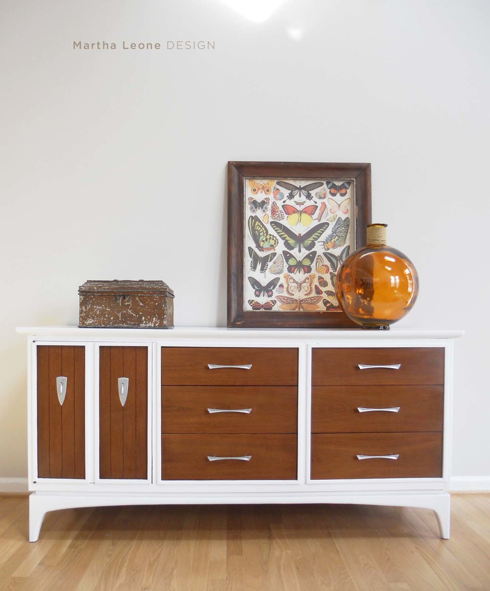 mid century modern, painted mid century furniture