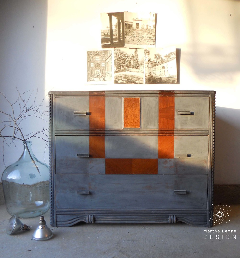 dresser in annie sloan graphite by martha leone design