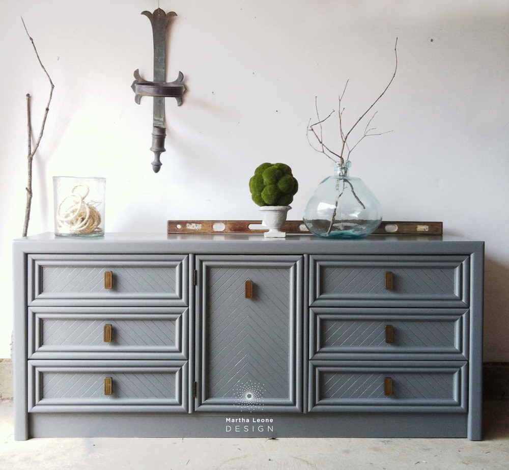 Delicieux Gray Painted Dresser, How To Style Furniture